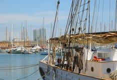 Hafen Vell am 13. April 2009 in Barcelona Stockbild