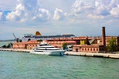 Hafen in Venedig, Italien Stockfoto