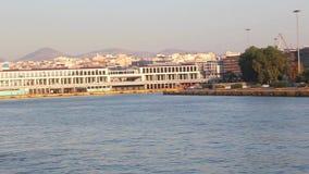 Hafen von Aegina-Insel - Griechenland stock video footage