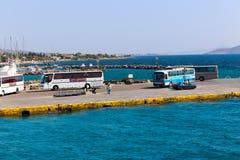 Hafen von Aegina-Insel - Griechenland Stockfotos
