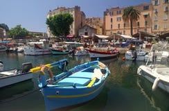 Hafen von Ajaccio, Korsika Stockfotos