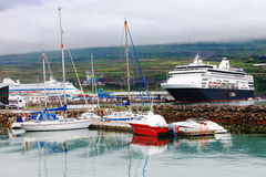 Hafen von akureyri, Island Stockfotos