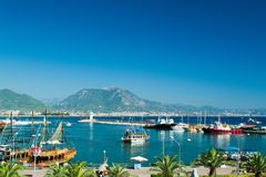 Hafen von Alanya Stockfotos