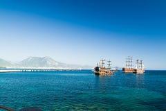 Hafen von Alanya Stockfoto