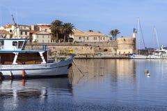 Hafen von Alghero - Sardinien - Italien Lizenzfreie Stockfotos