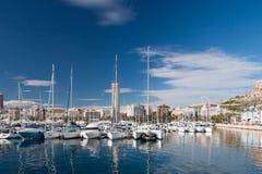Hafen von Alicante, Spanien Stockfotografie