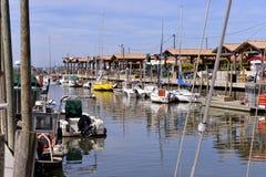 Hafen von Andernos-les-bains in Frankreich Stockbild
