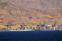 Hafen von Aqaba in Aqaba, Jordanien lizenzfreies stockbild