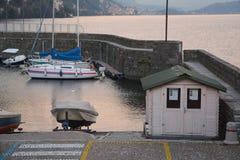 Hafen von Argegno lizenzfreies stockfoto