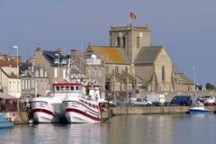 Hafen von Barfleur in Frankreich lizenzfreies stockfoto