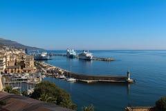 Hafen von Bastia Corse, Frankreich Lizenzfreies Stockbild