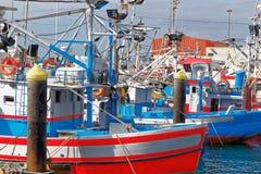 Hafen von Bucht Los Cristianos, Teneriffa, Spanien Stockbild