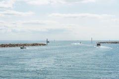 Hafen von Carteret, Frankreich, Normandie Lizenzfreie Stockbilder