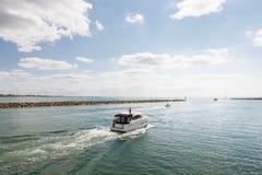 Hafen von Carteret, Frankreich, Normandie Lizenzfreies Stockbild