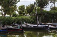 Hafen von Catarroja-Link mit Albufera Stockfotos