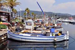 Hafen von Cavalaire-sur-MER in Frankreich Stockfotos