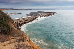 Hafen von Conil in Cadiz stockfotos