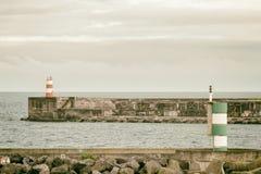 Hafen von den Azoren Stockfotografie