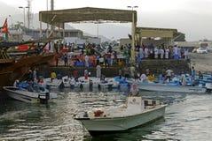 Hafen von Dibba, OMAN Lizenzfreies Stockbild