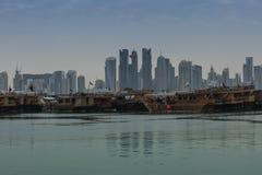 Hafen von Doha Stockbilder