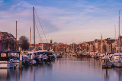 Hafen von Dordrecht Stockbild