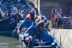 Hafen von Essaouira in Marokko lizenzfreie stockfotos