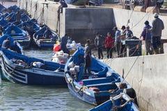 Hafen von Essaouira in Marokko lizenzfreies stockfoto