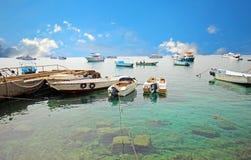 Hafen von Fischerbooten Hurghada Stockbilder