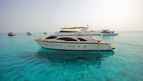 Hafen von Fischerbooten Hurghada Stockbild