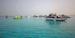 Hafen von Fischerbooten Hurghada Stockfoto