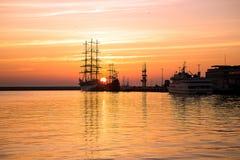 Hafen von Gdynia Stockfotos