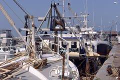 Hafen von Grandcamp-Maisy in Frankreich Stockfotos