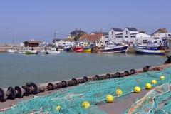 Hafen von Grandcamp-Maisy in Frankreich Stockfoto