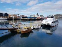 Hafen von Hammerfest stockbilder