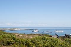 Hafen von Helgoland Stockfotos