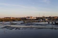 Hafen von Jiust Stockbild