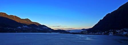 Hafen von Juneau-Panorama Lizenzfreies Stockfoto
