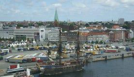 Hafen von Kiel - regionale Hauptstadt von Schleswig-Holst Stockbild