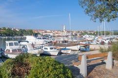 Hafen von Krk, Krk-Insel, Kroatien Stockfoto