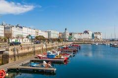 Hafen von La Coruna lizenzfreie stockbilder