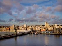 Hafen von La Coruna, Spanien stockbild