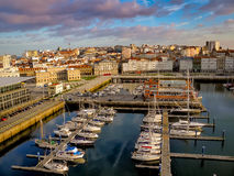 Hafen von La Coruna, Spanien lizenzfreie stockfotos