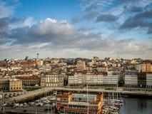 Hafen von La Coruna, Spanien lizenzfreies stockfoto