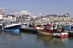 Hafen von La Turballe in Frankreich Stockbild
