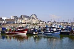 Hafen von La Turballe in Frankreich Stockfotos