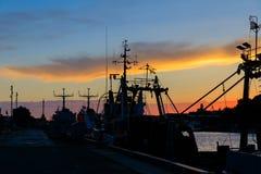 Hafen von Liepaja, Lettland Lizenzfreie Stockfotos
