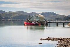 Hafen von Mangonui, Neuseeland Stockbild