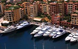Hafen von Monaco Lizenzfreies Stockbild