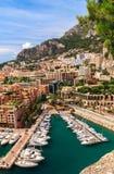 Hafen von Monaco Stockbilder