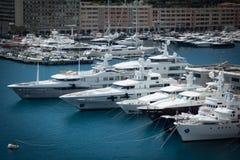 Hafen von Monte Carlo stockfotos